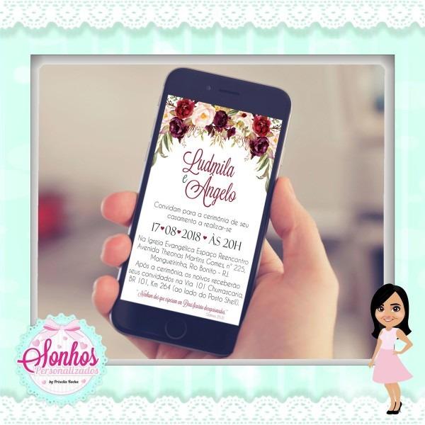 Convite de casamento digital no elo7