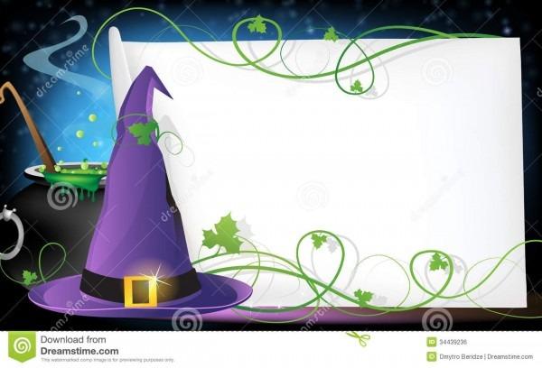 Convite de dia das bruxas ilustração do vetor  ilustração de