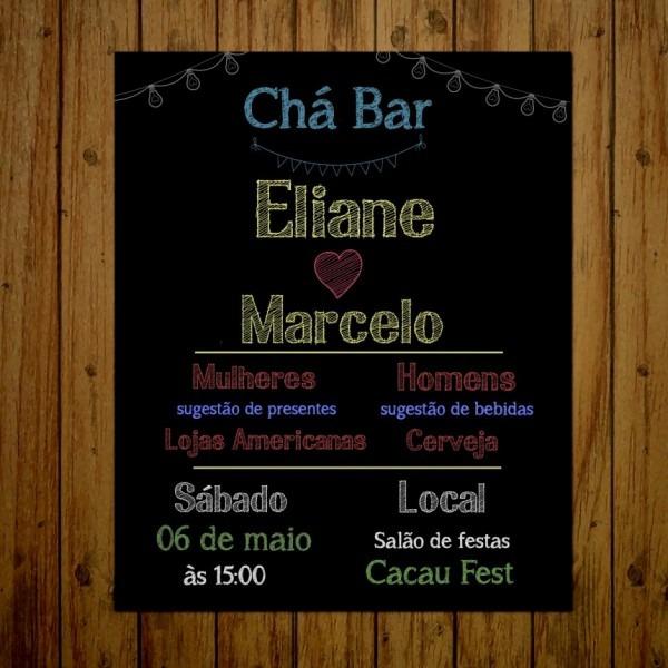 Convite de festa americana cole o ch bar digital no elo7 bella