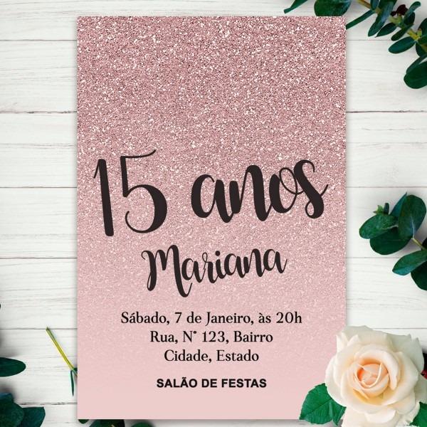 Convite digital 15 anos
