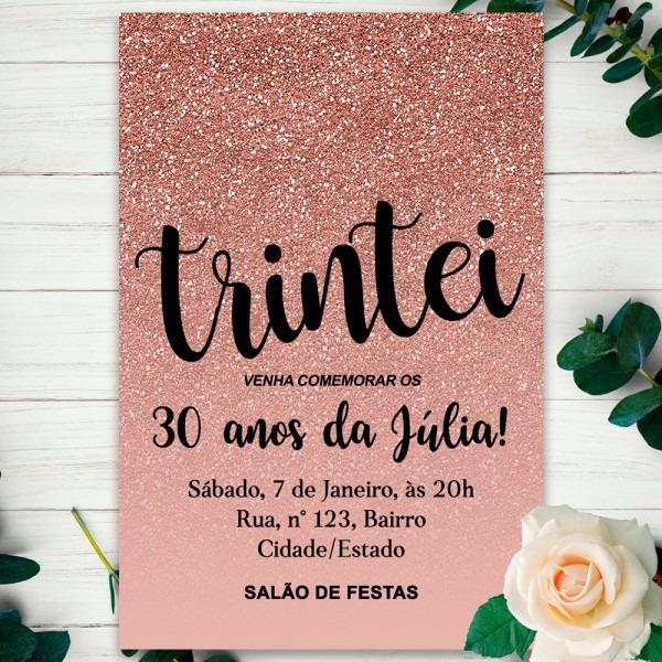Convite digital 30 anos