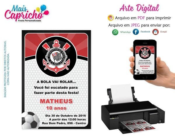 Convite digital aniversário futebol