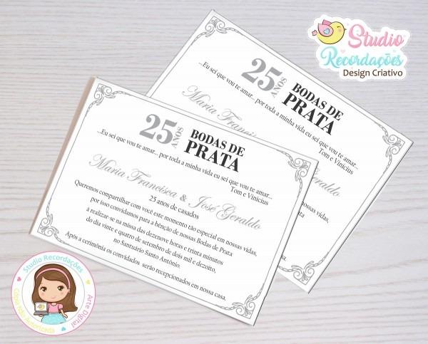 Convite digital bodas de prata