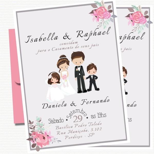 Convite digital casamento no elo7