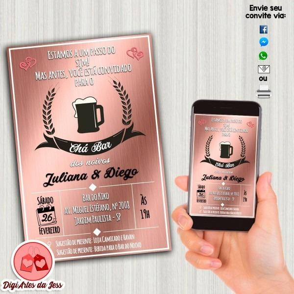 Convite digital chá bar