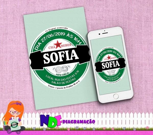 Convite digital chá de beber no elo7