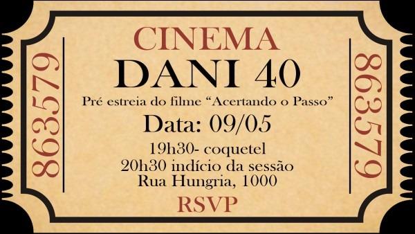 Convite masculino cinema