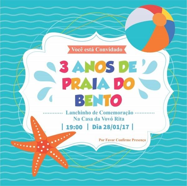 Convite digital tema praia no elo7