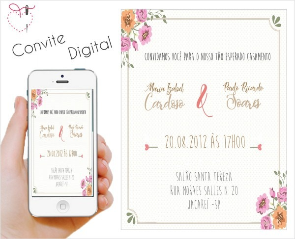 Convite digital de casamento