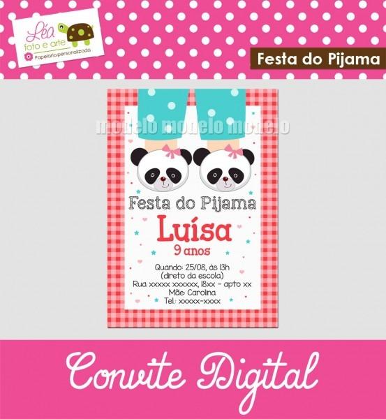 Convite digital festa do pijama no elo7