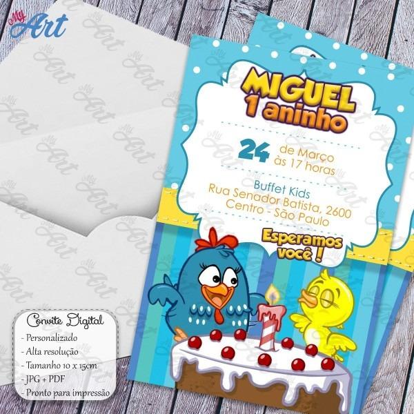 Convite digital galinha pintadinha personalizado