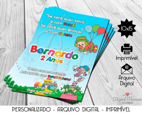 Convite digital patati patata no elo7
