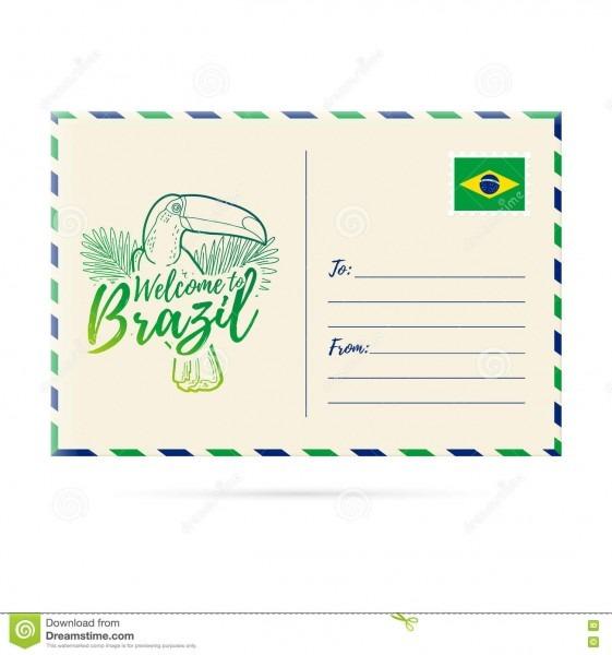 Convite do cartão com um tucano da imagem boa vinda do cartão a