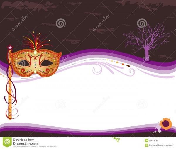 Convite do disfarce de halloween com máscara dourada ilustração do