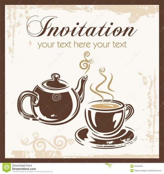 Convite do partido do tempo do chá ilustração do vetor