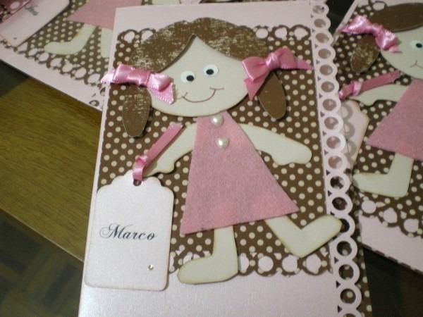 Convite aniversário boneca de pano no elo7