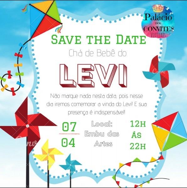 Convite e save the date digital pipa no elo7