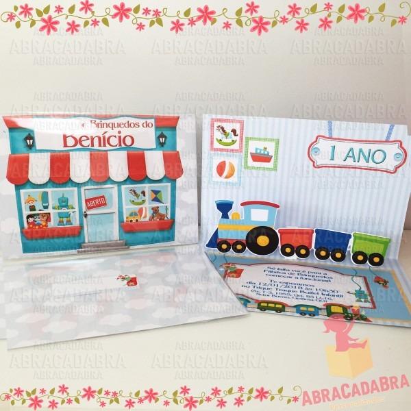Convite fábrica de brinquedos new 3d no elo7