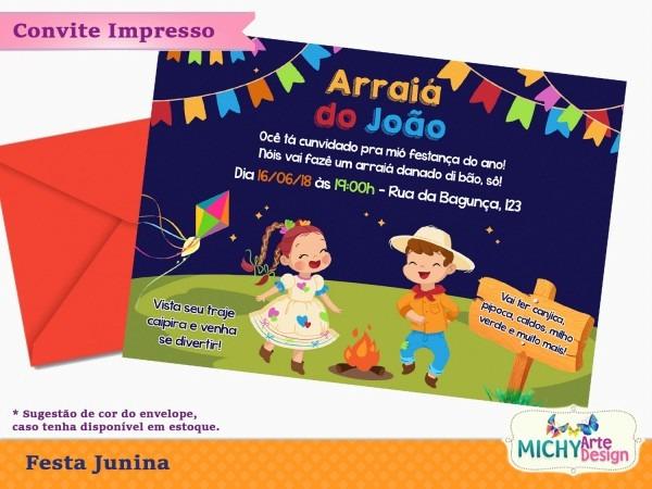 Convite festa junina caipira no elo7