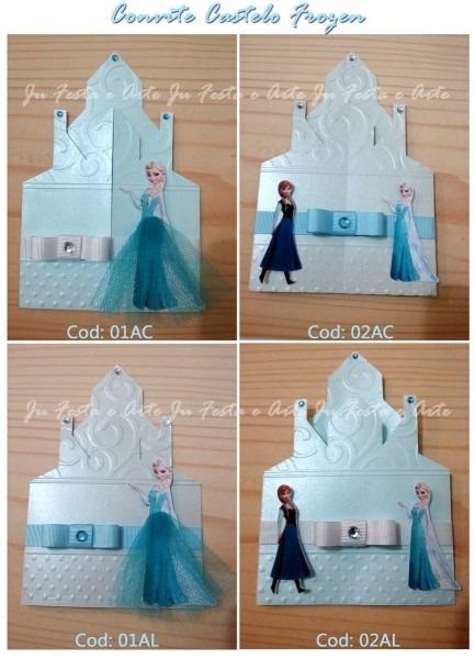 Convite frozen (castelo) no elo7