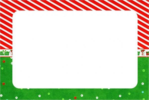 Convite fundo natal vermelho e verde 2