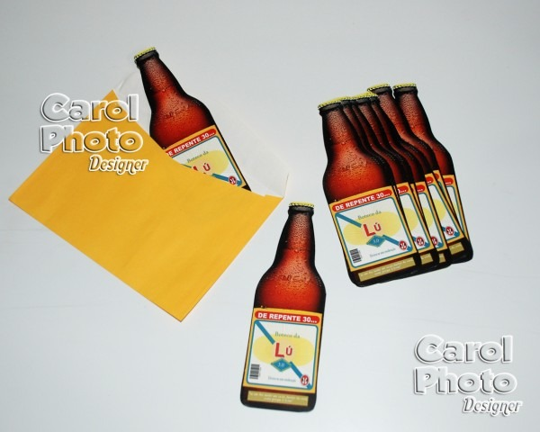 Convite garrafa de cerveja no elo7