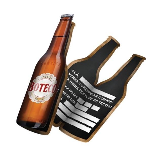 Convite grande garrafa cerveja festa do boteco 40 unidades