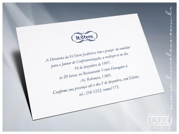 Convite h  stern
