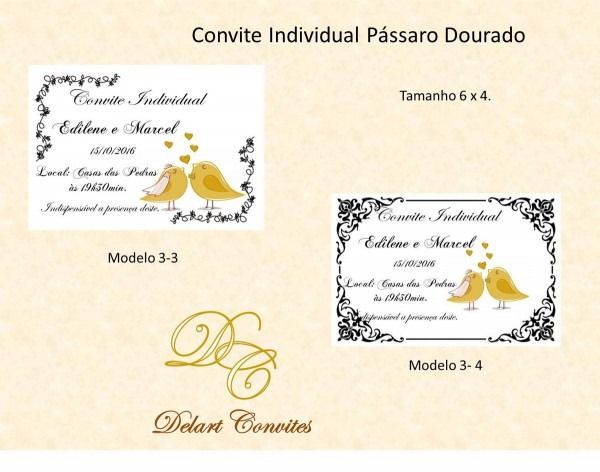 Convite individual no elo7