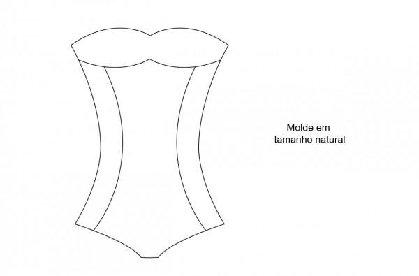 Molde de corpete – roupa de banho