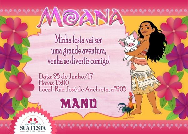 Convite moana 01 (arte digital) no elo7