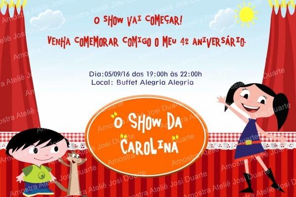 Convite o show da luna no elo7