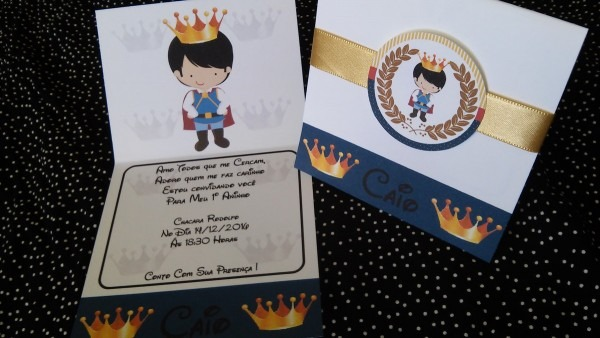 Convite rei davi no elo7