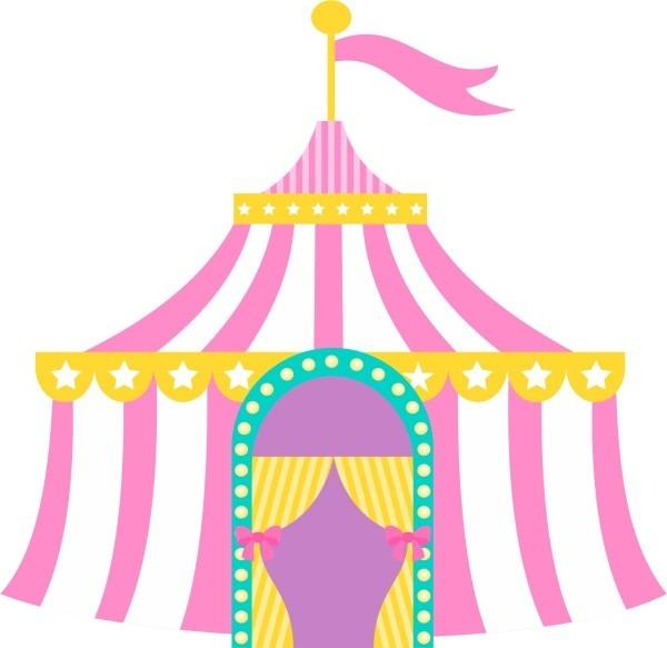 Convite virtual animado circo rosa modelo 2 ver vídeo