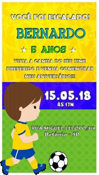 Convite virtual animado tema futebol ( brasil ) md2
