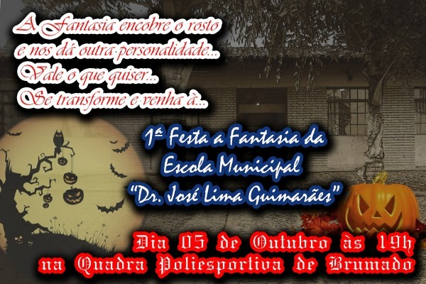 Escola municipal dr  josé lima guimarães  convite para a 1ª festa
