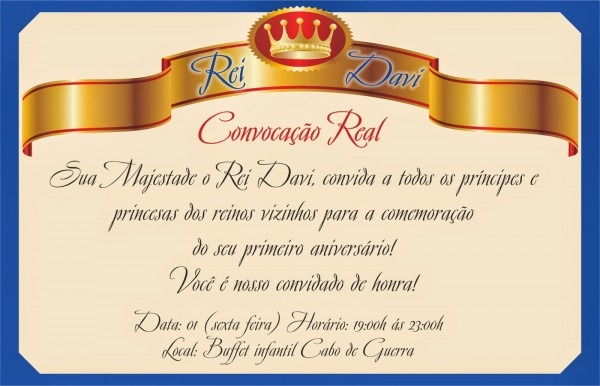 Convite rei davi