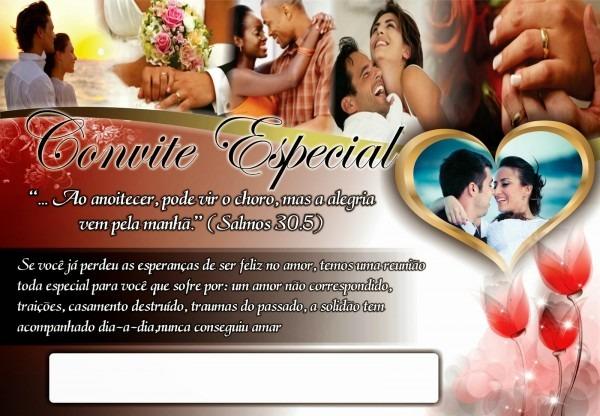 Convite especial terapia do amor mais envelope e selo