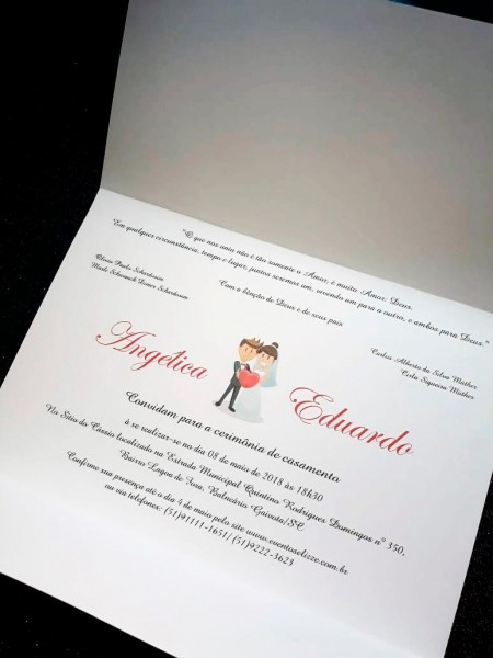 Convites de casamento simples e barato 30unidade