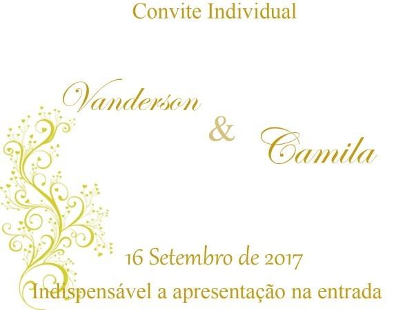 Convites individuais casamento no elo7
