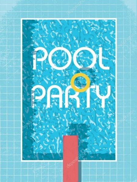 Piscina festa convite cartaz, panfleto ou folheto modelo  piscina