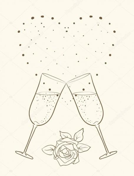 Modelo de convite de casamento — vetor de stock © ghenadie  5575339