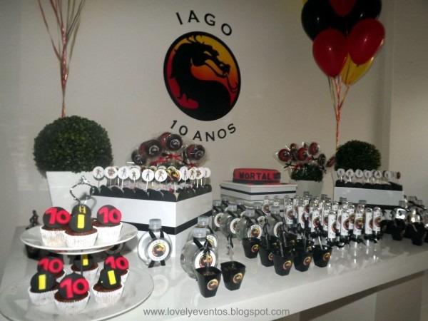 Lovely eventos  festa  mortal kombat do iago
