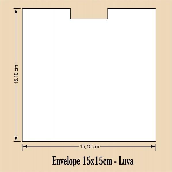 Envelope 15x15 luva colado