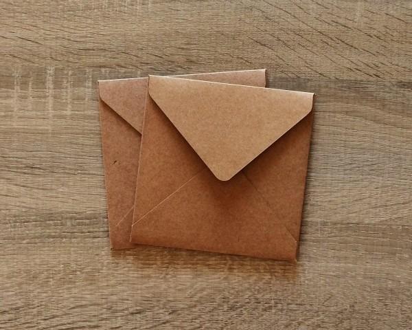 Envelope bico quadrado kraft 250g 13,5x13,5 no elo7