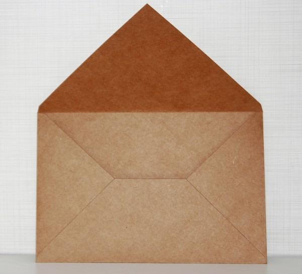 Envelope convite kraft 200g m2 165x225mm no elo7