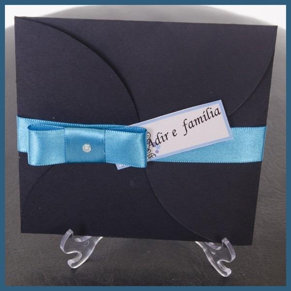 Convite envelope modelo catavento 15x15 no elo7