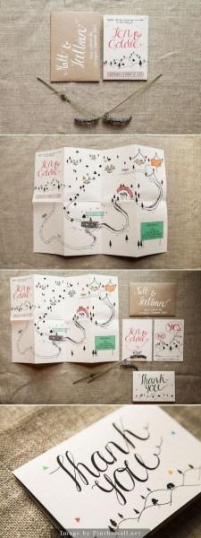 Lindo convite com mapa para o casamento   convite  papelaria  maps