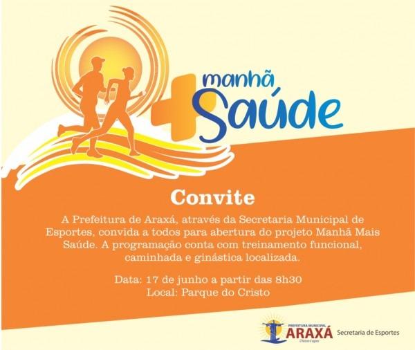 """Parque do cristo terá atividades físicas aos domingos """"manhã mais"""