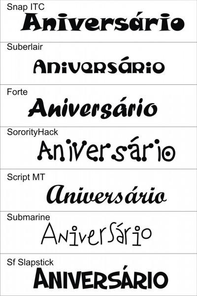 Fontes para convites de anivers√°rio 2 » happy birthday world
